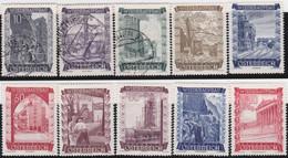 Österreich   .   Y&T    .   712/721      .   O  Und  *  .    Gebraucht Und Ungebraucht  Mit Gummi - 1945-60 Ongebruikt