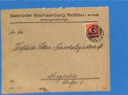 Allemagne Reich 1923 Lettre De Roßlau (G2491) - Storia Postale