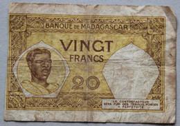 Billet Madagascar, Vingt Francs - Madagascar