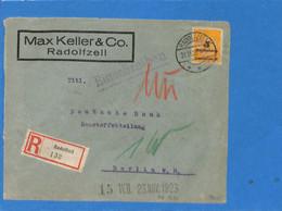 Allemagne Reich 1923 Lettre De Radolfzell (G2504) - Lettres & Documents