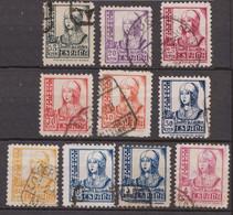 1937 Edifil 820/829  Isabel Usados - 1931-50 Oblitérés