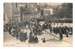 Bonnetable (72) : L'entrée Du Cercueil à L'église Obsèques Du Vicomte De La Rochefoucault Env 1907 (animé) PF. - Bonnetable