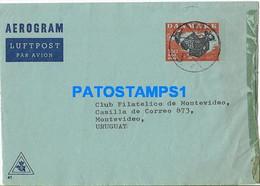 164322 DENMARK DANMARK CANCEL CIRCULATED TO URUGUAY AEROGRAM POSTAL STATIONERY NO POSTCARD - Zonder Classificatie