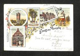 2.10€ : ALL - HAMELN - Gruss Aus Hameln - 1899 - RARE - Non Classés
