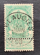 Rijkswapen OBP 56 - 5c Gestempeld  EC BLAUGIES - 1893-1907 Coat Of Arms