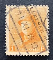 OBP 175  SPOORWEGSTEMPEL EECKEREN NR 1 - 1919-1920 Behelmter König