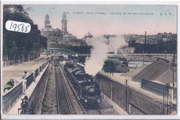 PARIS- QUAI D ORSAY- CHEMIN DE FER DES INVALIDES- ELD- COLORISEE - Stations, Underground