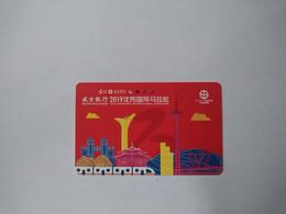China Transport Cards,2019 Shenyang International Marathon, TV Tower, Metro Cards, Shenyang City, 10 Times, (1pcs) - Non Classificati