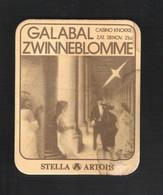 Bierviltje - Sous-bock - Bierdeckel  STELLA ARTOIS - GALABAL ZWINNEBLOMME - CASINO KNOKKE   (B 102) - Beer Mats