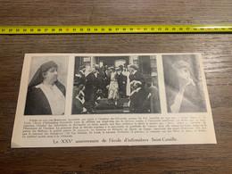 1932 PATI1 XXV Anniversaire école Infirmières Saint-Camille 2 Deux Alices Baronne Terlinden Van Den Steen De Jehay - Unclassified