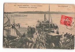 489 ELD En L'état Embarquement Des AUTOMOBILES Sur Le BAC La Cale De Solidor SAINT SERVAN En 1909 SE LE DELEY PARIS N376 - Saint Servan