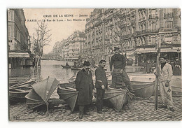 Rare ELD Les Marins Parisiens Et Leurs Canots Berthon  à L'angle De La Rue De Lyon Brasserie GAUBERT N376 - Paris Flood, 1910