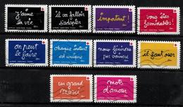 NEW 2021 Les 12 Timbres Du Carnet - CROIX ROUGE Oblitérés - Used Stamps