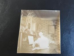 Photo (~1900) Appartement CHATILLON DE MICHAILLE Dame Au Piano - Plaatsen