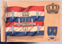 Ref 561 CPSM Barré Dayez Bannières Fanions De France Henri IV P.A. Leroux - Non Classificati