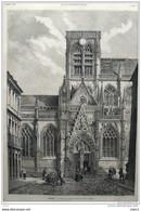 Rouen - L´église Saint-Vincent - Page Original - 1879 - Historische Dokumente