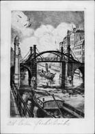 Artiste CPA Berlin Mitte, Fischerbrücke, Original Radierung, Handabzug - Andere