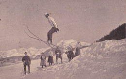 Saut à Skis - Carte Photo ( Postée à Annecy ) - Annecy