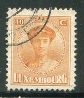 LUXEMBOURG- Y&T N°128- Oblitéré - 1921-27 Charlotte Frontansicht
