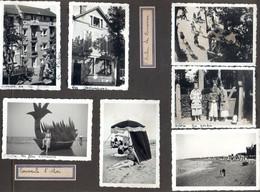 Ref Mout1 : +25 Photos Originales St Saint Aubin 1937 Villa Les Moineaux Fete Romaine - Luoghi