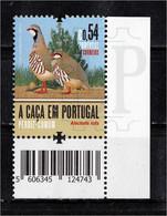 Portugal 2021 Caça Perdiz Comum Partridge Fauna Faune Animal Animaux Alectoris Rufa Bird Birds Corner Sheet Code - Grey Partridge