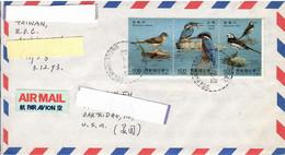 Taiwan , Bird, Birds, Kingfisher, Circulated Cover To USA - Andere