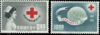 Taiwan 1963 Red Cross Centenary Stamps Nurse Globe Health Medicine - Neufs