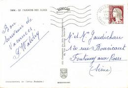N°85607 -cachet Manuel De Valloine -Haute Savoie - 1964- - Manual Postmarks