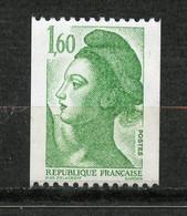 France, Yvert 2222b**, Liberté 1f60 Vert Sans Bande De Phosphore, Expertisé, MNH - Variétés: 1980-89 Neufs