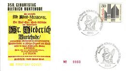 11992) BRD - ✉ Mi 1323 # - FDC - 80Pf      Dieterich Buxtehude - FDC: Covers