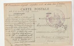 """Carte Aire Sur Adour En Franchise Militaire Avec Cachet """" Hôpital Auxiliaire N°128 """" 1917 - Covers & Documents"""
