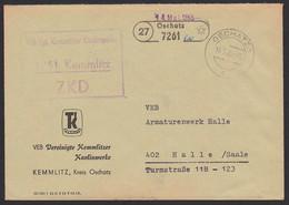 Kemmlitz R3 ZKD-St. 14.5.65, PSSt. (27) OSCHATZ VEB Vgt. (Vereinte) Kemmlitzer Kaolinwrke, Porzellanbasis - Service