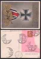 3 Pf. Ganzsache Mit Fehlender Zufrankatur, Signierte Künstlerkarte Gottfried Klein, Eichenlaub Rede Nov. 1939 - Postwaardestukken