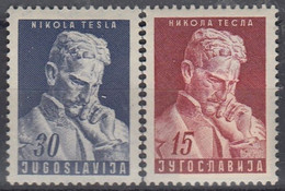 YUGOSLAVIA 712-713,unused,Nikola Tesla - Neufs