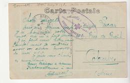 """Carte Aire Sur Adour /rue De La Poste En Franchise Militaire Avec Cachet """"Hôpital Temporaire/Union Des Femmes De France"""" - Covers & Documents"""