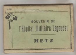 CARNET COMPLET 15 CPSM MILITAIRE METZ (Moselle) - Souvenir De L'Hôpital Militaire LEGOUEST - Metz