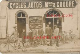 COMMERCE // CARTE PHOTO    Cycles Autos Machines A Coudre / MAISON C DAUVERGNE ** - Vari