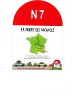 TIMBRES NEUFS      NATIONALE  7   DE PARIS  A  LYON   8 TIMBRES SUR LE TRAJET  AVEC CARTE DE LA ROUTE 1e TRAJET - Unused Stamps