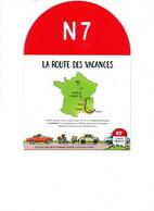 TIMBRE  NATIONALE 7  DE  LYON  A MENTON  8 TIMBRES NEUF ET CARTE ROUTIERE   POUR CE 2eme  TRAJET - Unused Stamps