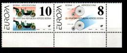 Bosnien-Herzegowina (Kroatien-Teil) 17 - 18 Zusammendruck Europa CEPT Mnh ** Bosnie-Et-Herzégovine Bosnia-Herzegovina - Bosnia And Herzegovina