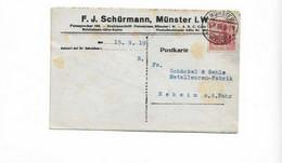 Karte Aus Münster Nach Neheim  1919 - Cartas