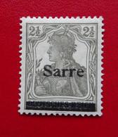 Michel / Yvert / Scott 2a - 2 1/2 Pf. Germania Sarre *, Typ III, Geprüft Dr. Dub / Certifié, Charnière, 3ème Tirage, MH - Ungebraucht