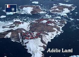 Antarctica Adelie Dumont-d'Urville Station Aerial View TAAF UNESCO New Postcard Antarktis AK - TAAF : Territori Francesi Meridionali
