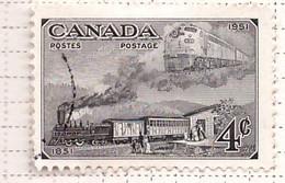 PIA - CANADA : 1950-51 : Centenario Del Francobollo Canadese - Ferrovie Di Ieri E Di Oggi   -  (Yv  246) - Used Stamps