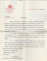 Lettre Du Vatican Rapatriement Prisonnier Lechfeld Ausburg Bavière à Albi Tarn - Avec Enveloppe - VOIR DESCRIPTION - 1914-18