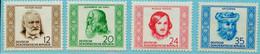 """DEUTSCHLAND DDR 1952 Michel-# 311-314 """" Satz Wissenschaftler ** """" Michel 22 € - Nuevos"""