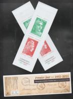 """FRANCE / 2021 / Y&T N° 5507/5509 ? En Carnet N° 1528 Complet ** (Bande-carnet """"50 Ans De La Mention Premier Jour"""") X 2 - Commémoratifs"""