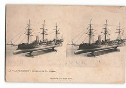 Très Rare ELD LA PEROUSE Croiseur De 3eme Classe  Stéréo Le Merveilleux Stréréoscopique  E LE DELEY PARIS  N382 - Other