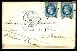 ÉTOILE / PARIS CAD OCTOGONAL  - PARIS BREST - 1868 - AU COMMANDANT DU GÉNIE À BREST - 1849-1876: Periodo Clásico