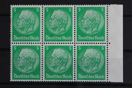 Deutsches Reich, MiNr. 468, 6er Block, Rechter Rand, Postfrisch / MNH - Neufs